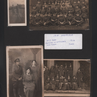 1917 York and 1918 Sheffield British Army